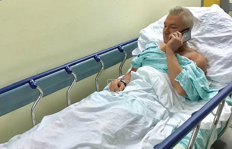 Sylvain à l'hôpital